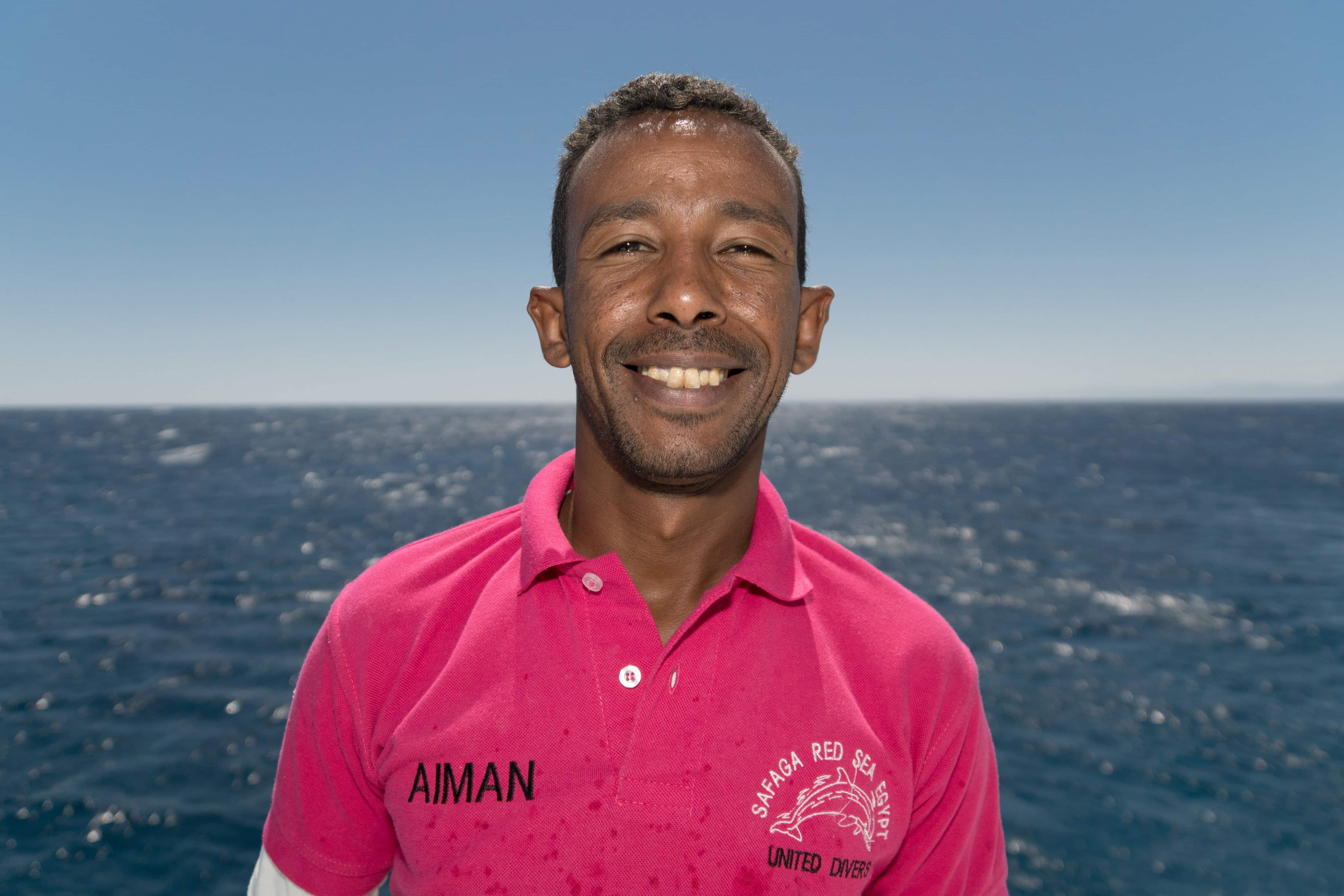 Aiman Marin sur le Compass de United Divers Egypt Safaga