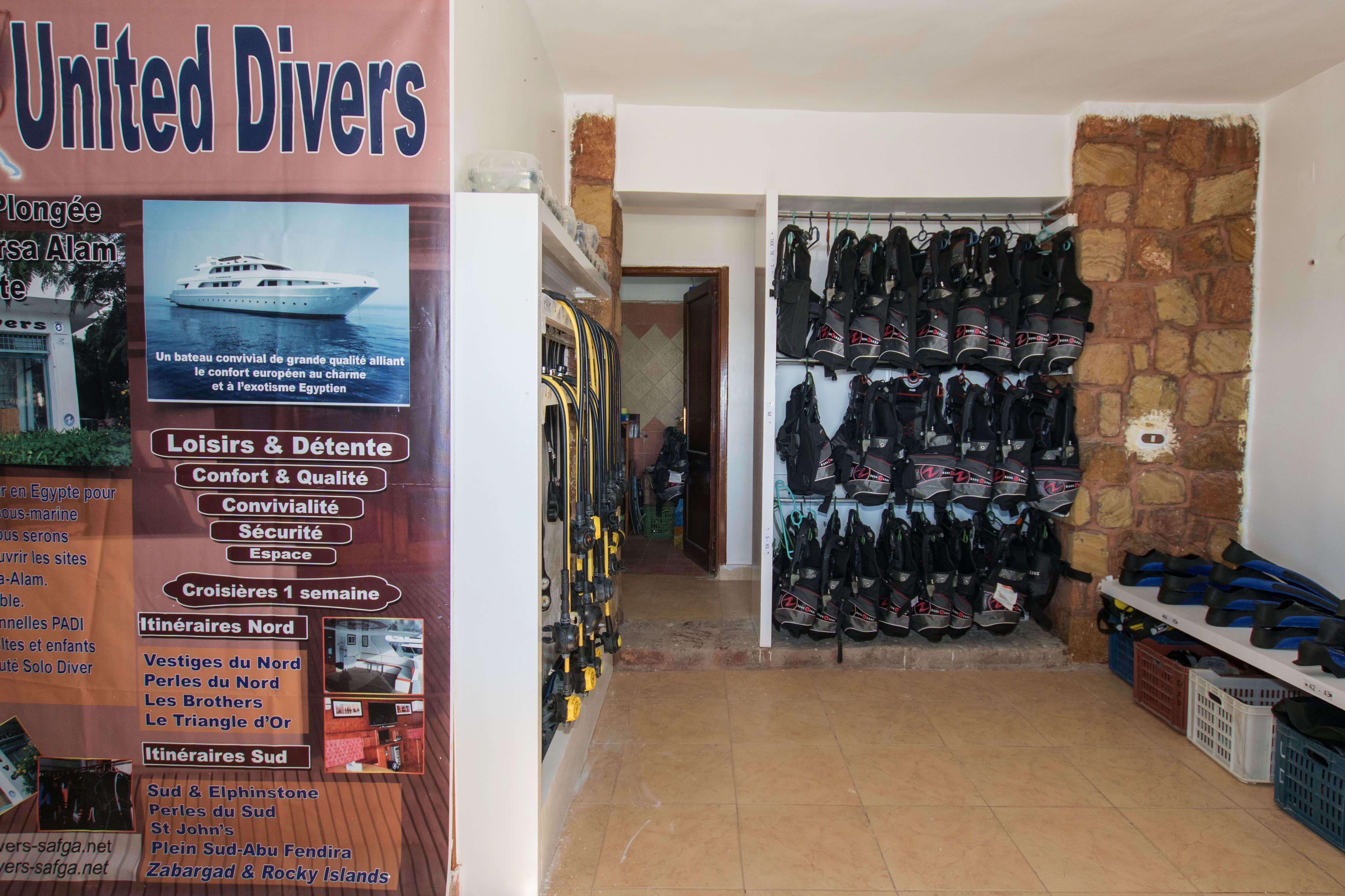 United Divers Egypt Safaga Centre de plongée et boutique