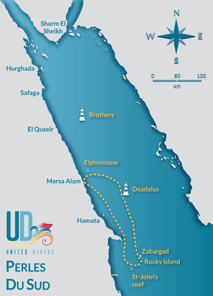 Itineraire Croisiere Perles Du Sud avec United Divers Egypt