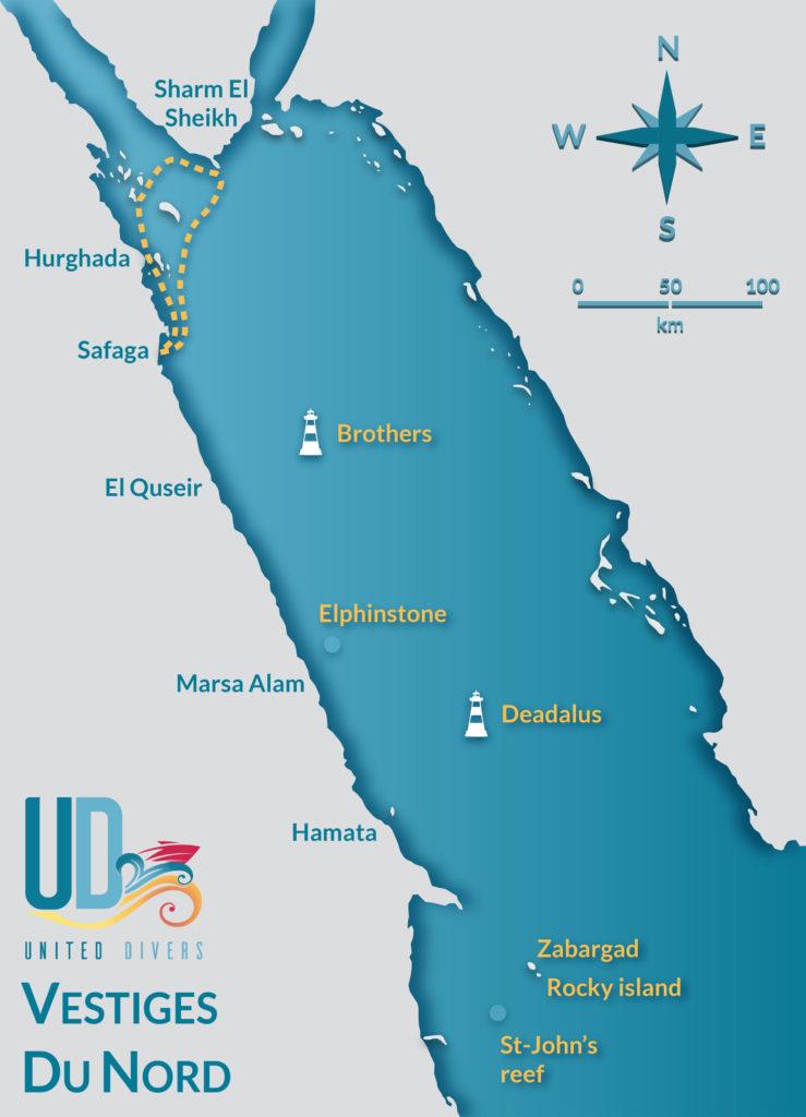 Itineraire Croisiere Vestiges Du Nord avec United Divers Egypt