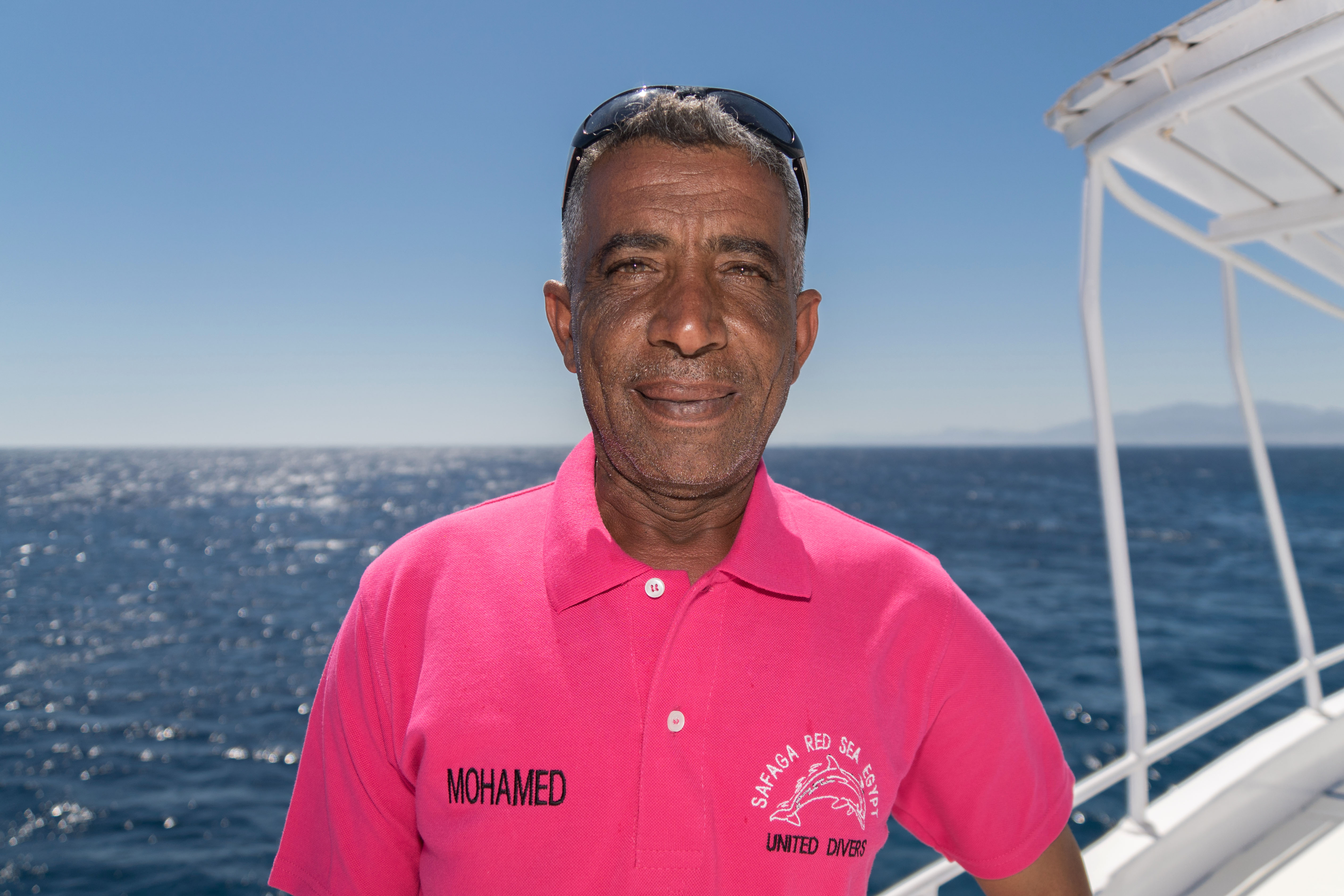 Mohamed Capitaine du Compass chez United Divers Egypt Safaga