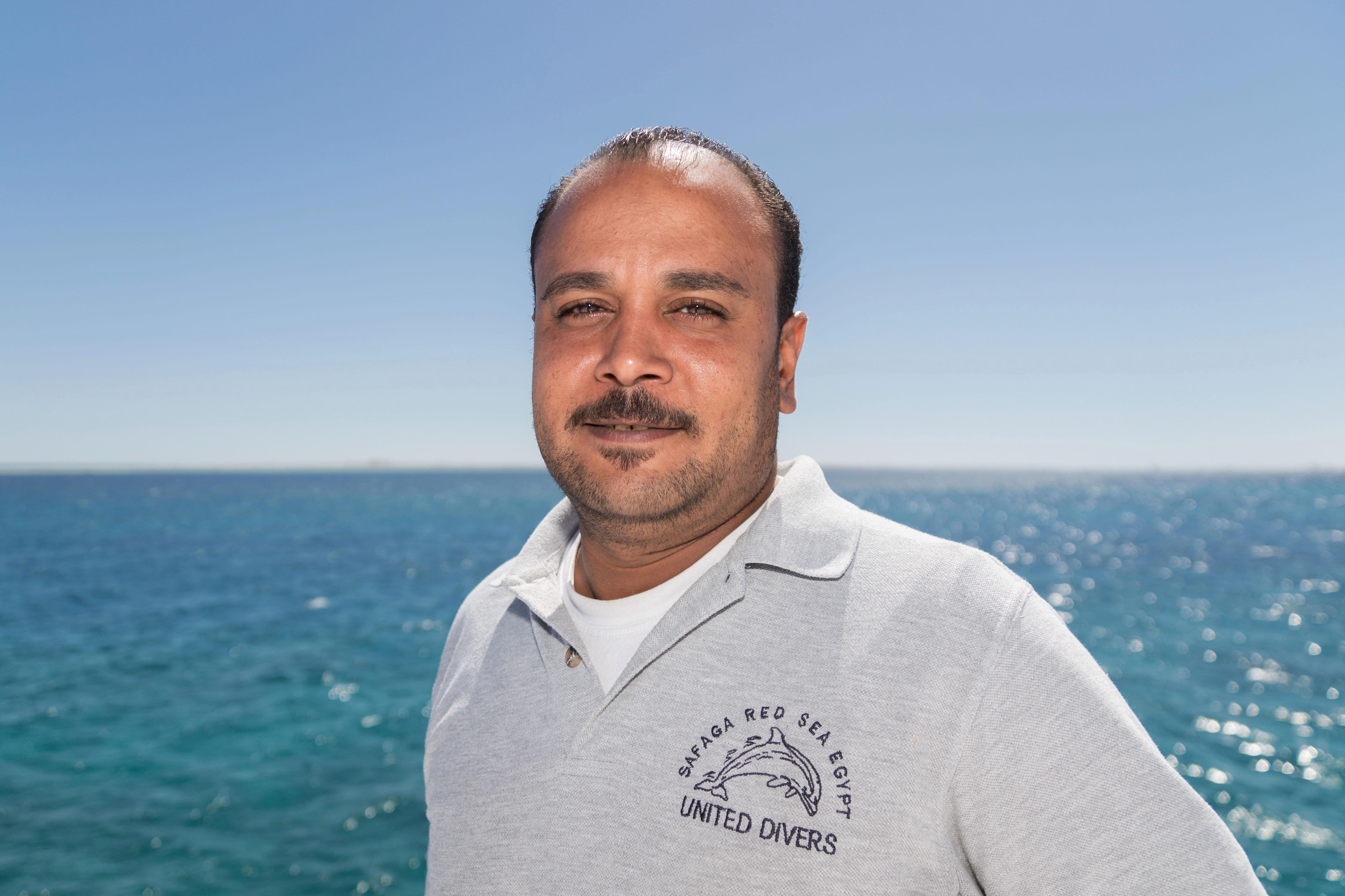 Hassan Mécanicien à bord du Ramadan 3 chez United Divers Egypt Safaga