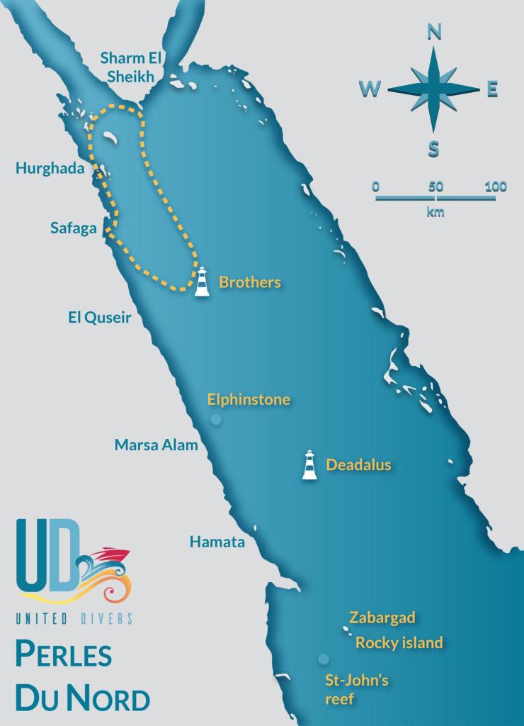 Itineraire Croisiere Perles Du Nord avec United Divers Egypt